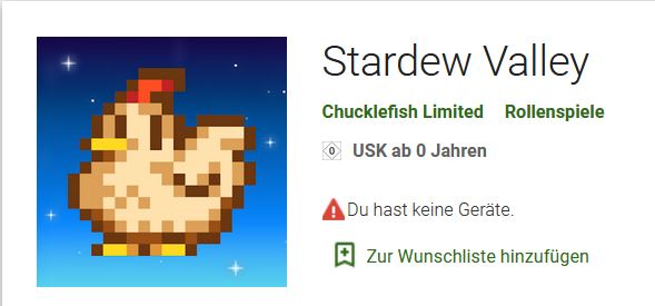 Stardew Valley Google Play Store