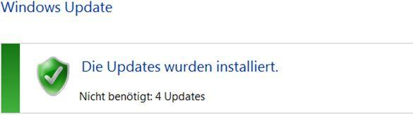 Windows Updates wurden installiert