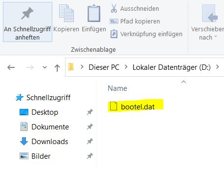Bootel.dat Datei Windows 10