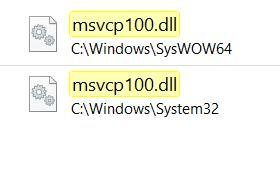 MSVCP100.dl fehlt