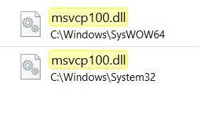 MSVCP100.dl Programm startet nicht