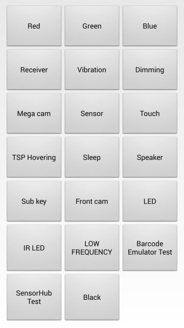 Samsung Galaxy S5 How to open the secret test menu