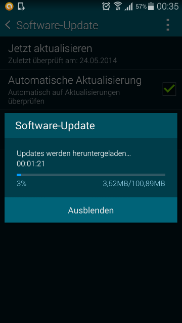 Samsung Galaxy S4 Software Update