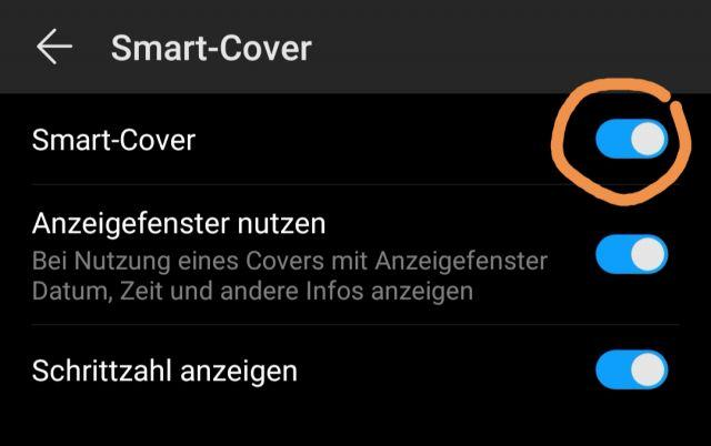 Smart Cover aktivieren - Huawei Mate Pro