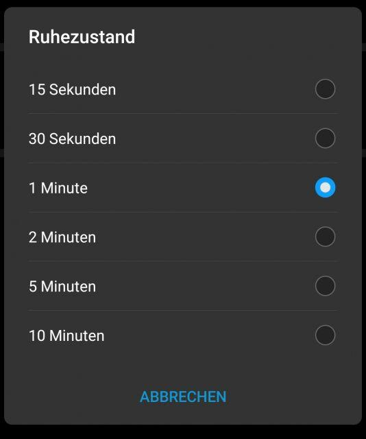 Samsung Galaxy S10 Display Timeout