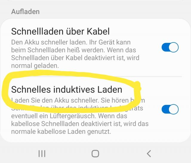 Schnelles Induktives Laden Samsung Galaxy Note 10