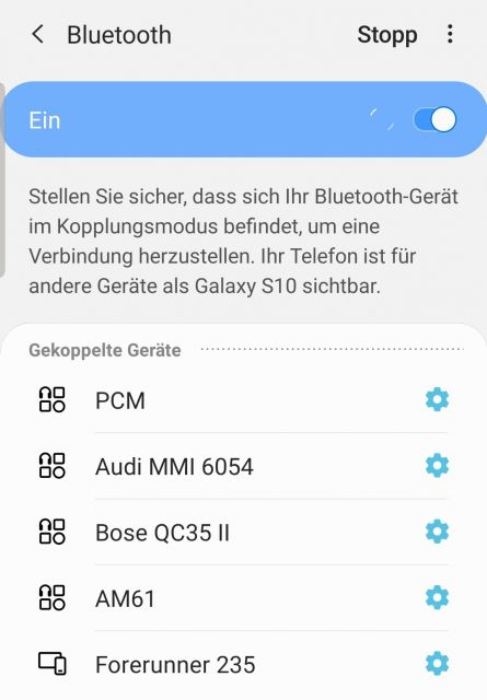 Bluetooth Einstellungen