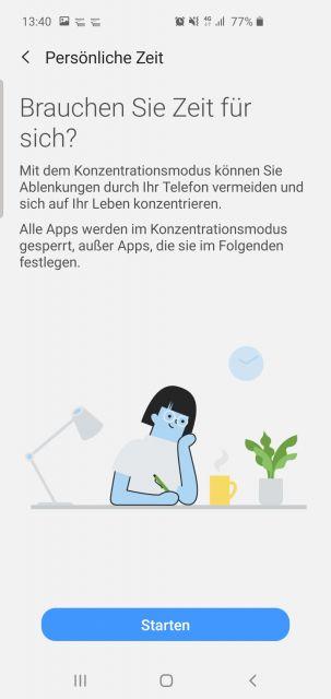 Konzentrationsmodus Samsung