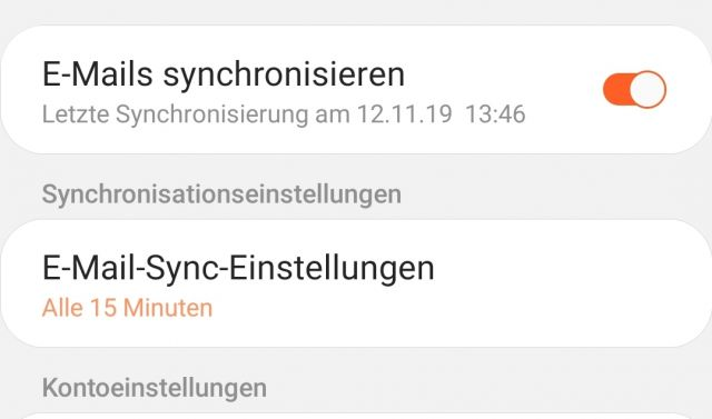 E-Mail Synchronisierung