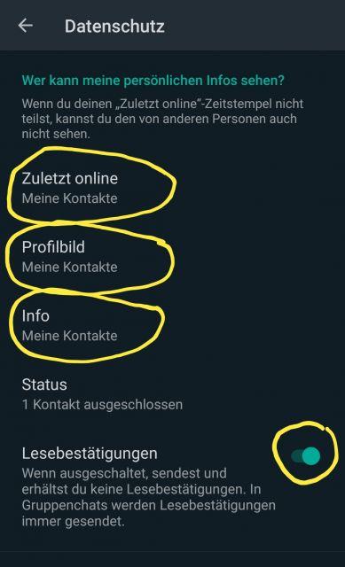 Whatsapp profilbild sehen meine kontakte