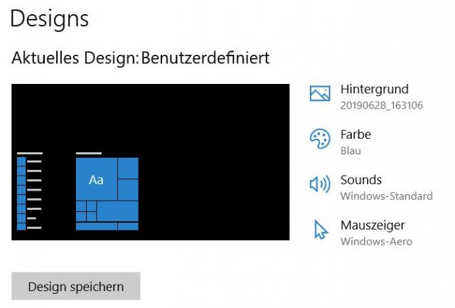 Design anpassen in Windows