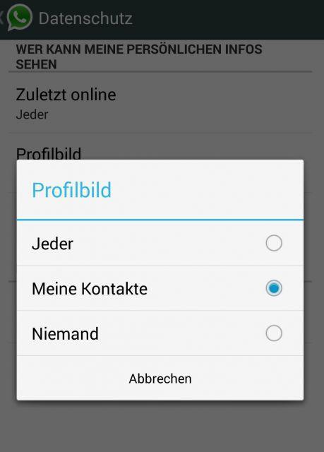 whatsapp blockierte kontakte anzeigen